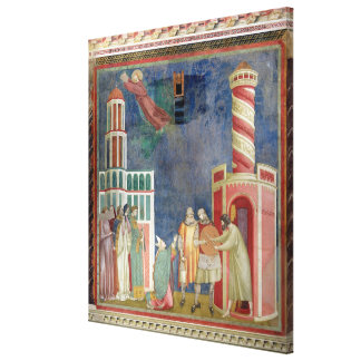 St. Francis Releases the Heretic, 1297-99 Stretched Canvas Print