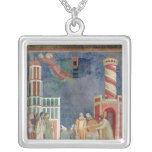 St. Francis Releases the Heretic, 1297-99 Square Pendant Necklace