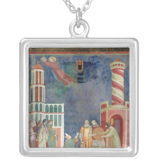 St. Francis Releases the Heretic, 1297-99 Silver Plated Necklace