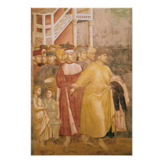 St. Francis Renounces all Worldly Goods Poster