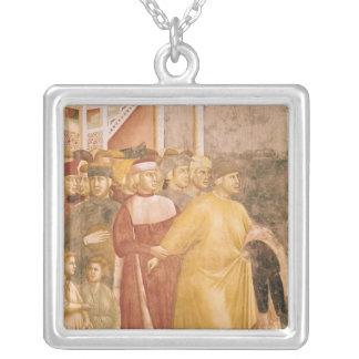 St. Francis Renounces all Worldly Goods Silver Plated Necklace