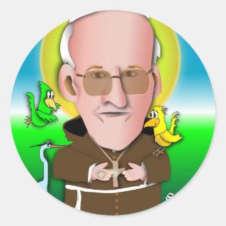 St Francis ruega Pegatina Redonda