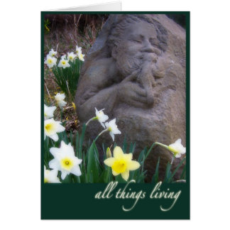 St. Francis sculpture Greeting Cards