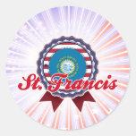 St Francis, SD Pegatina Redonda