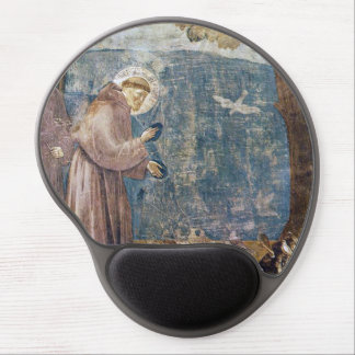 St. Francis Sermon to the Birds Assisi Basilica Gel Mouse Pad