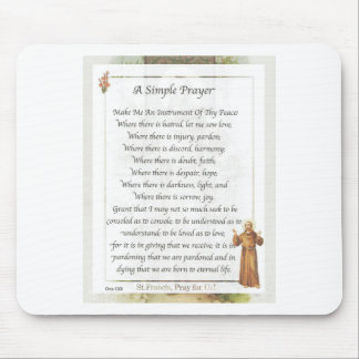 st. francis simple prayer mouse pad