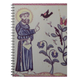 St Francis speaking to the Bird Notebook
