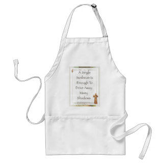 st. francis sunbeam prayer adult apron
