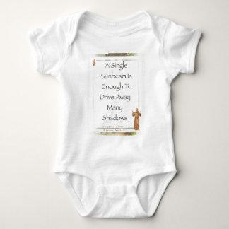 st. francis sunbeam prayer baby bodysuit