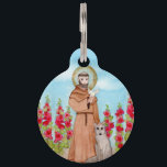 """St. Francis Watercolor Personalized Pet ID Tag<br><div class=""""desc"""">Add your pet's name and your contact information to this pet ID tag.</div>"""