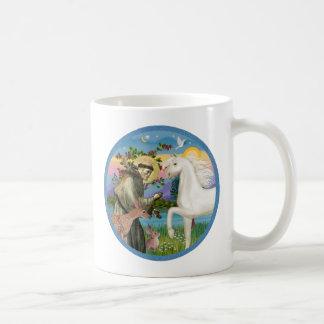 St Francis - White Arabian Horse Coffee Mug