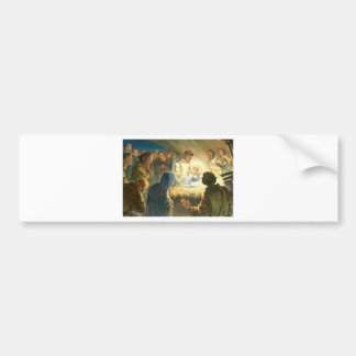 St Francis with Baby Jesus Christmas Gift Nativity Car Bumper Sticker