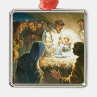 St Francis with Baby Jesus Christmas Gift Nativity Ornament
