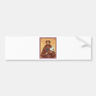 St. Francis with Dove Car Bumper Sticker