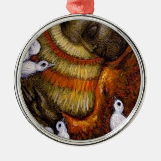 St. Francis with Doves, Postcard, Mug, Hat, iPhone Metal Ornament