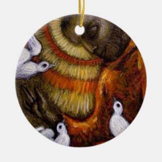 St. Francis with Doves, Postcard, Mug, Hat, iPhone Ornament