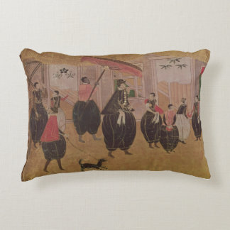 St. Francis Xavier  and his entourage Accent Pillow