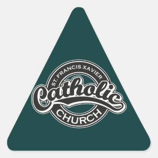 St. Francis Xavier Catholic Church Black White Triangle Sticker