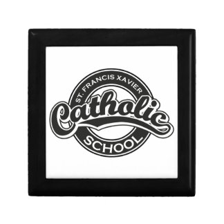 St. Francis Xavier Catholic School Black and White Jewelry Box