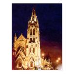 """St. Francis Xavier"" Church St. Louis Watercolor Postcard"
