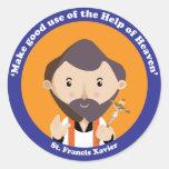 St. Francis Xavier Round Stickers