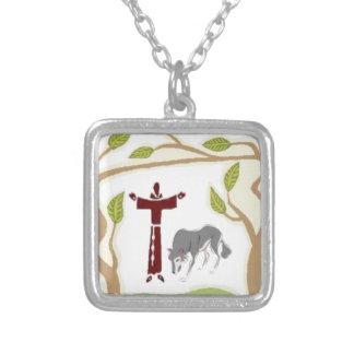 St Francis y el lazo del lobo, la caja de regalo,  Colgantes Personalizados