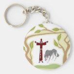 St Francis y el lazo del lobo, la caja de regalo,  Llaveros Personalizados
