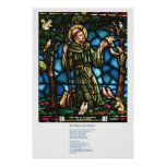 St Francis y el rezo de la paz de St Francis Posters