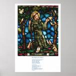 St Francis y el rezo de la paz de St Francis Póster