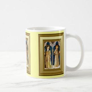 St Francis y St Clare, Assisi Taza Básica Blanca