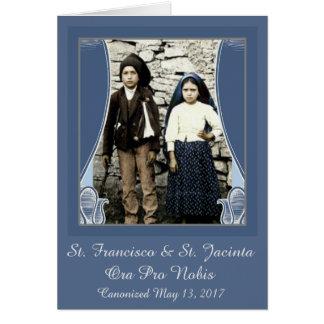 St. Francisco & St. Jacinta Newly Canonized Card
