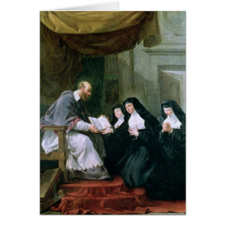 St. Francois de Sales  Giving the Rule Greeting Card