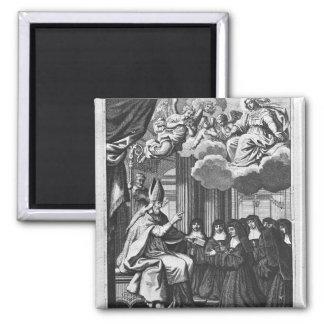 St. Francois de Salles  Giving the Rule Magnet