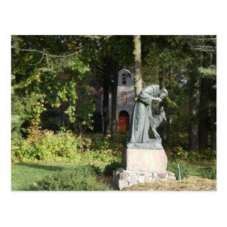 St. Franics y el lobo de Gubbio Postal
