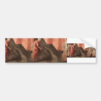 St. Fredianus Diverts the River by Filippo Lippi Bumper Sticker