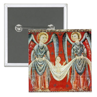 St. Gabriel and St. Raphael, c.1200 Pinback Button