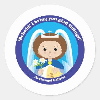 St. Gabriel the Archangel Classic Round Sticker