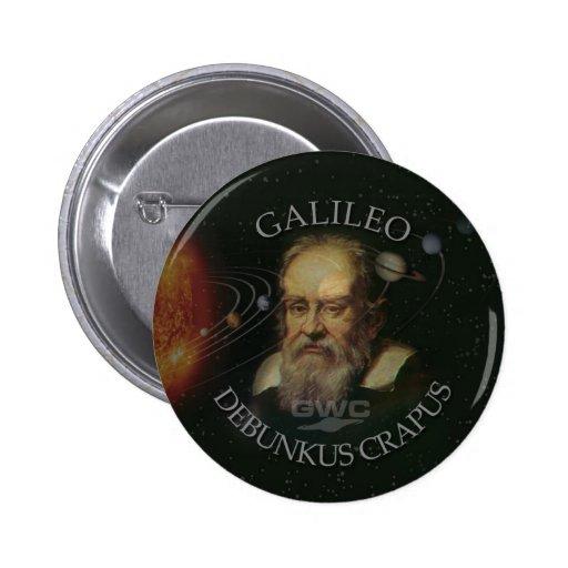 St. Galileo 2 Inch Round Button