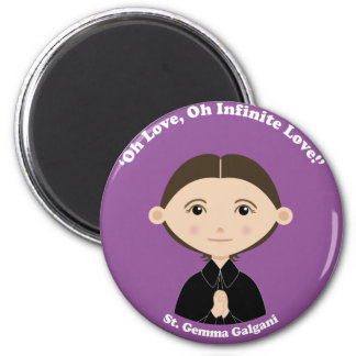St. Gemma Galgani 2 Inch Round Magnet