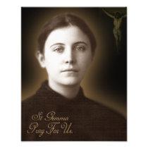 St Gemma Galgani, Photo Print