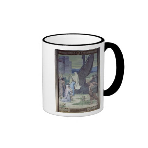 St. Genevieve Bringing Supplies Ringer Coffee Mug