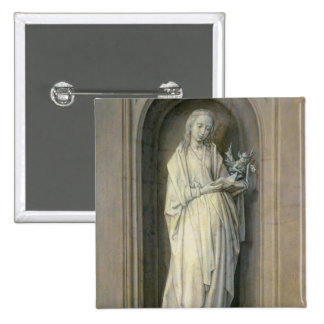 St. Genevieve , c.1479 2 Inch Square Button