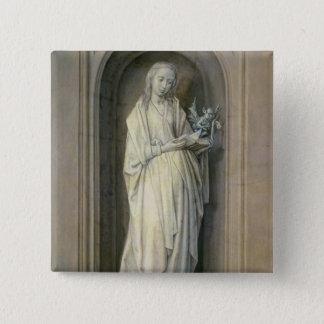 St. Genevieve , c.1479 Pinback Button