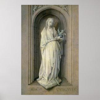 St. Genevieve, c.1479 Póster