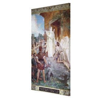 St. Genevieve Calming the Parisians Canvas Print