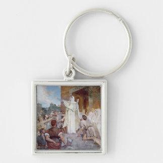 St. Genevieve Calming the Parisians Key Chain