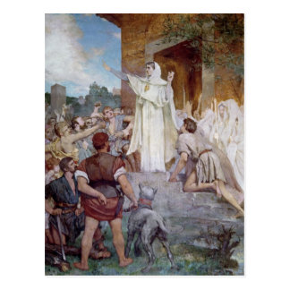 St. Genevieve Calming the Parisians Postcard