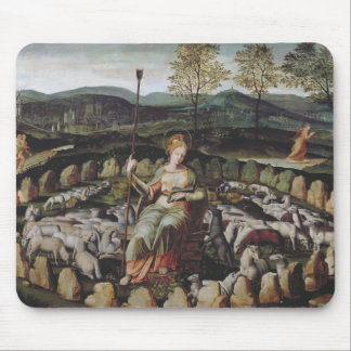 St. Genevieve Guarding her Flock Mouse Pad