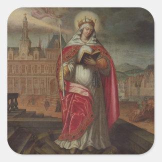 St. Genevieve Pegatina Cuadrada