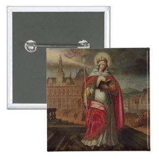 St. Genevieve Pin Cuadrada 5 Cm